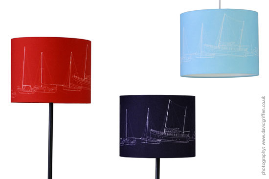 Falmouth Harbour lampshades