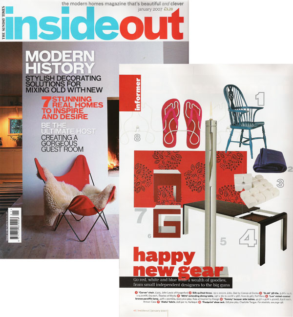 Footprint shoe rack in Inside Out magazine