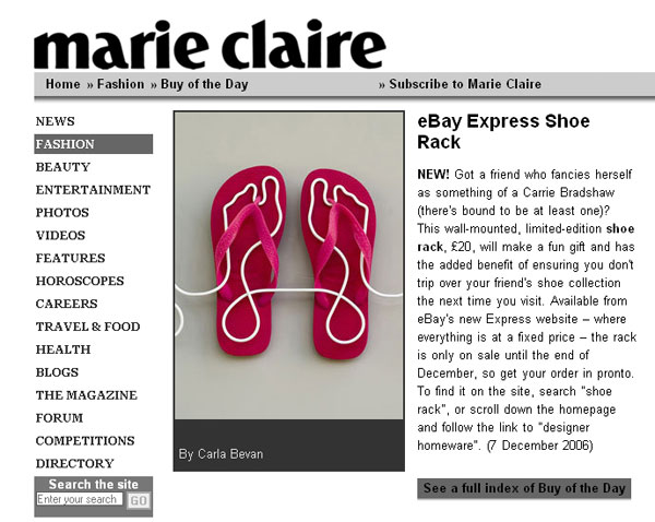 Footprint shoe rack Marie Claire buy of the day